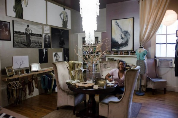 One Love Design House is shared by a  a dress designer, a seamstress, a jewelry designer, and a photographer - Charleston, SC. Source: One Love Design House