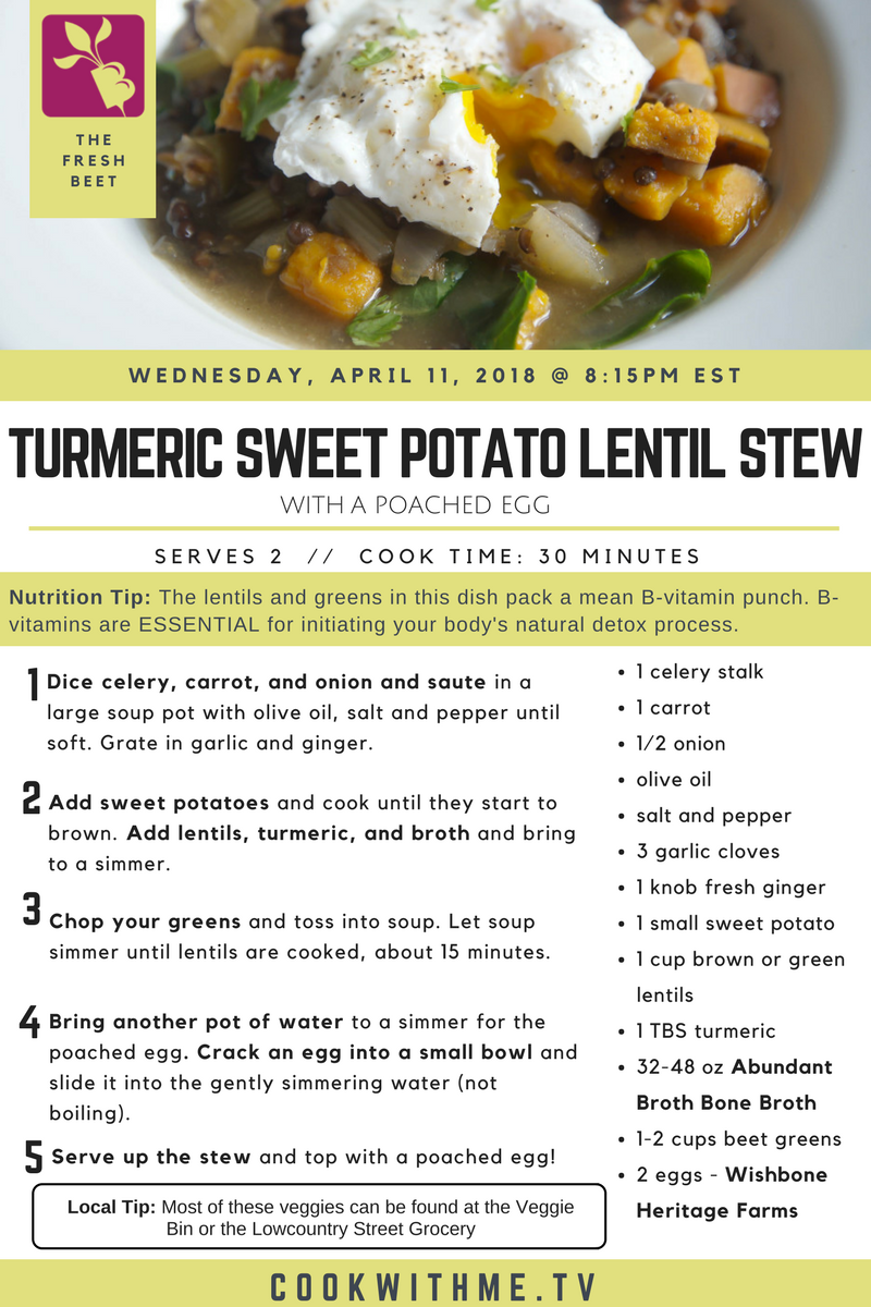 Local sweet potato lentil stew recipe how to video lowcountry local sweet potato lentil stew recipe how to video forumfinder Choice Image